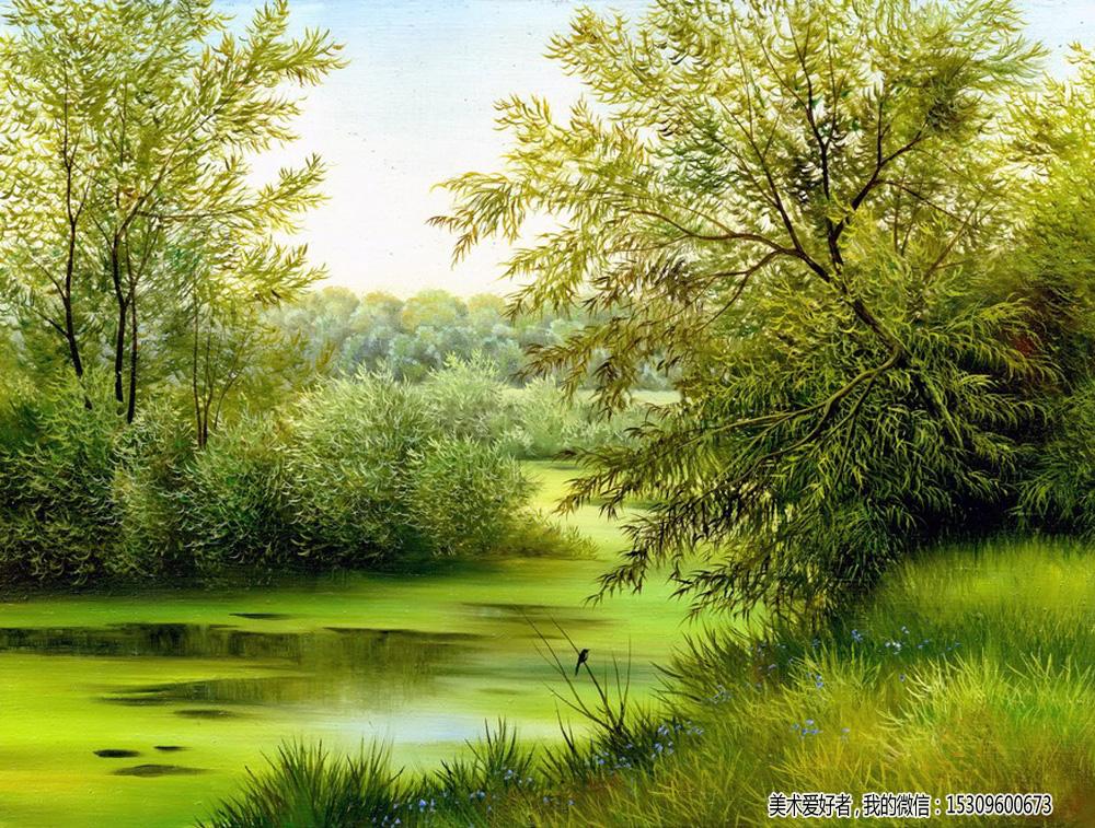 唯美油画风景图片