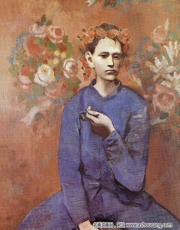 毕加索著名油画《拿烟斗的男孩》赏析、故事 附高清图片