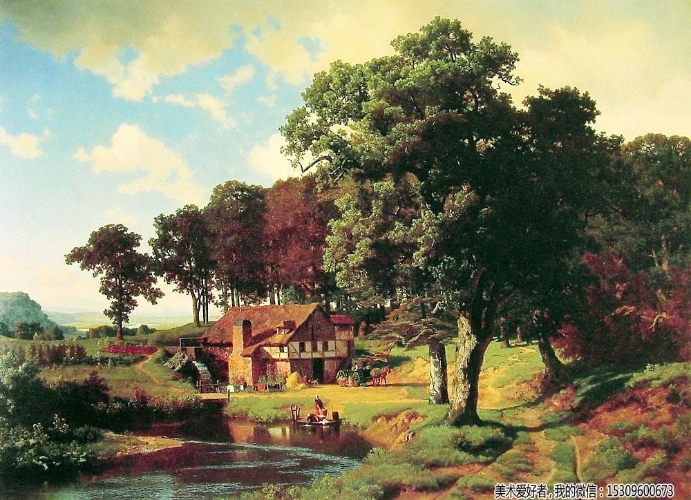 油画风景临摹