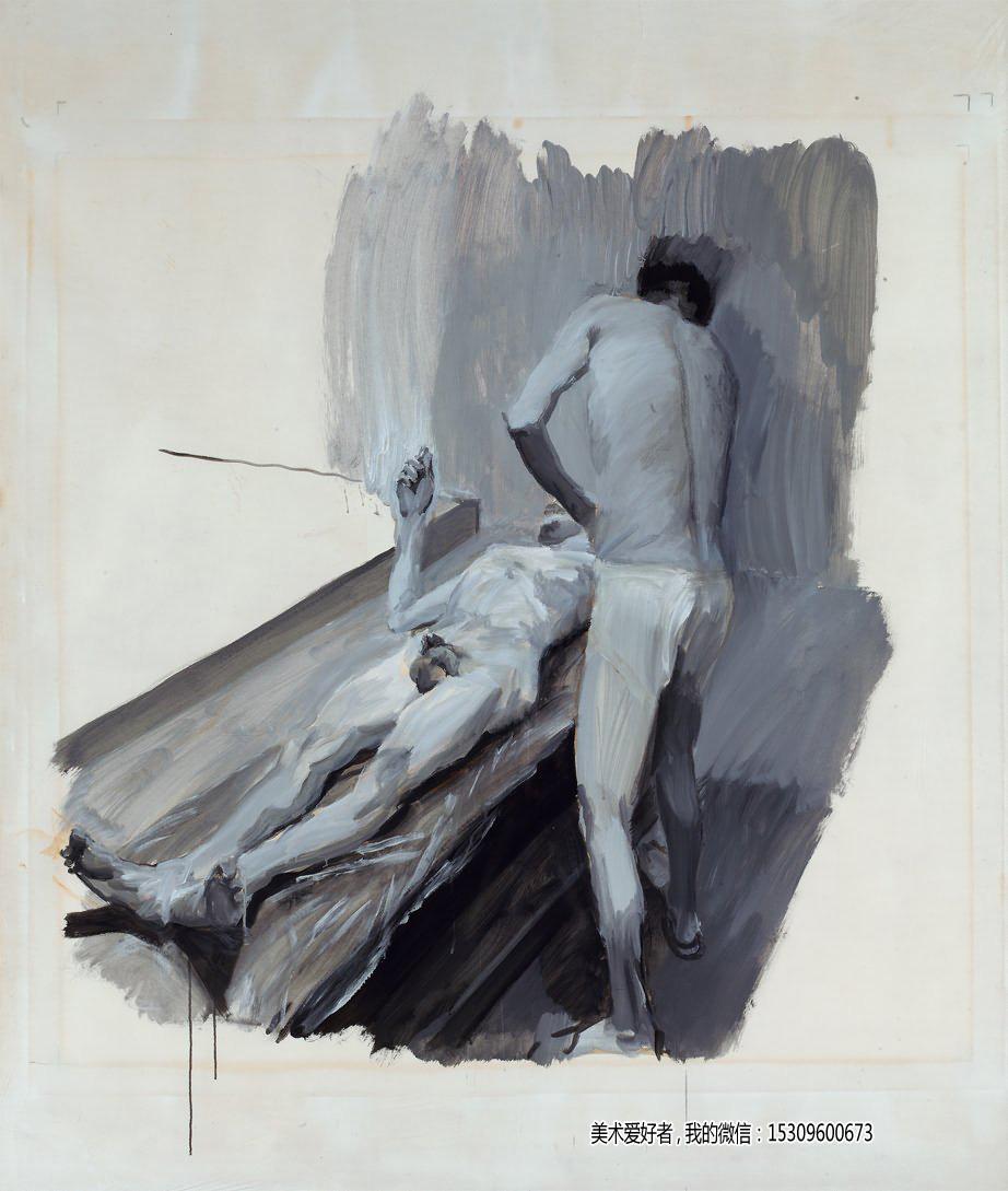 刘小东油画作品《澡堂》