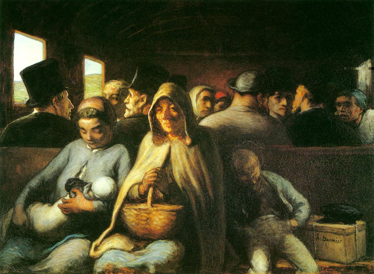 法国画家杜米埃名画《三等车厢》赏析
