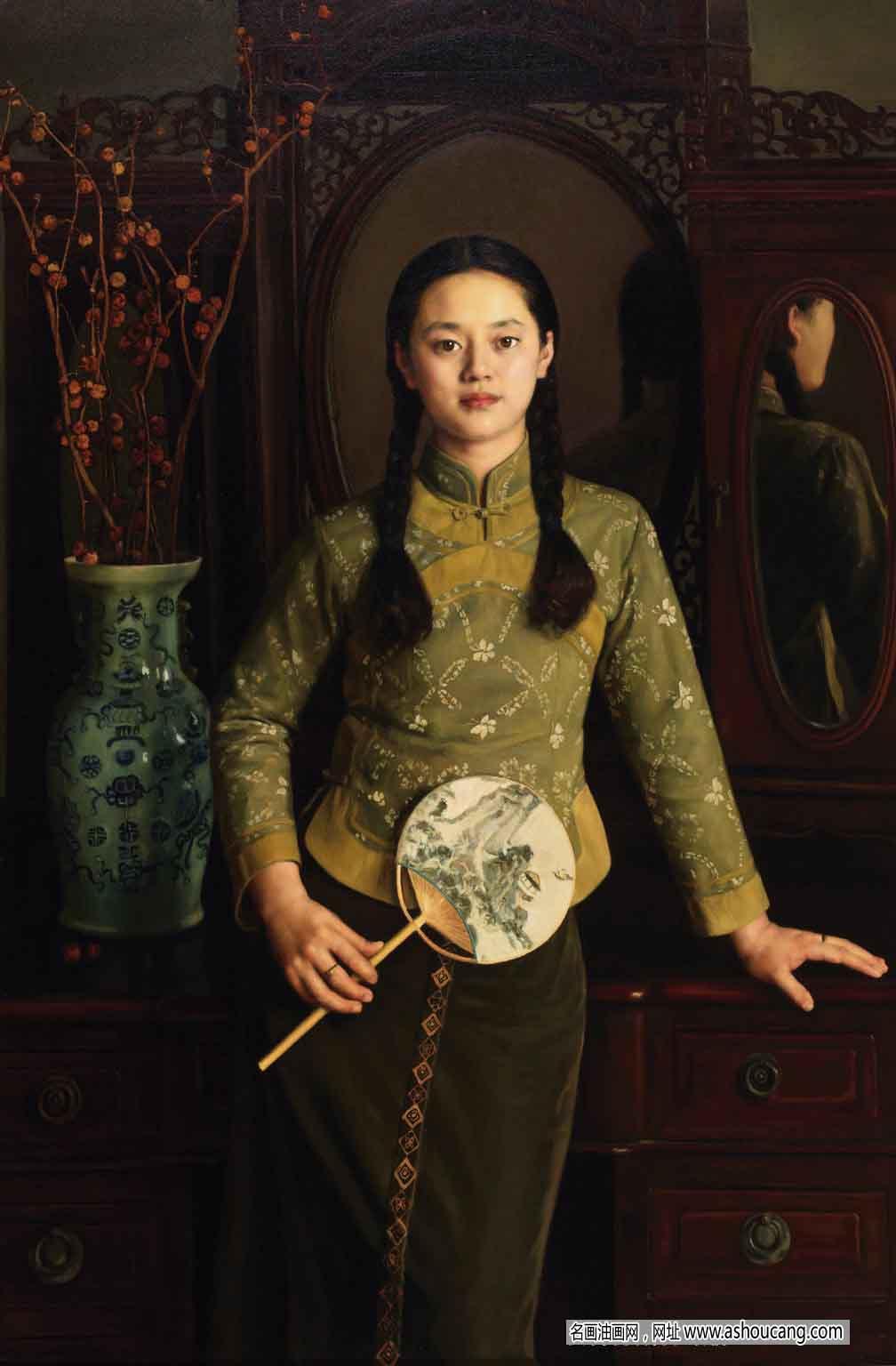 杨飞云油画人物作品《遗韵》欣赏 高清大图