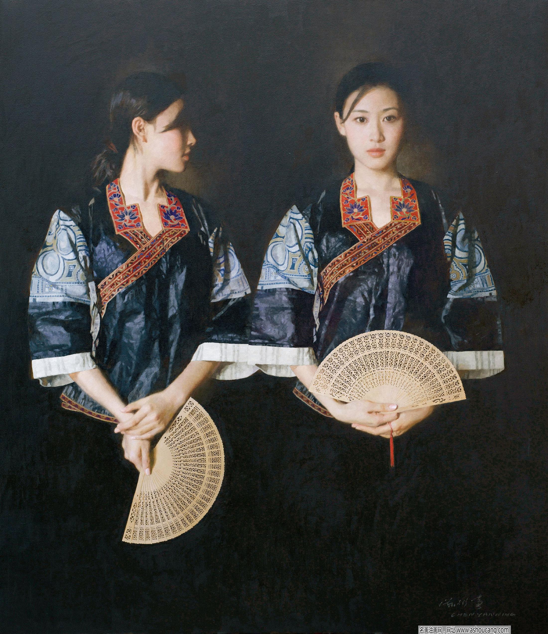 陈衍宁人物油画作品《远山的风采》 赏析 附高清大图