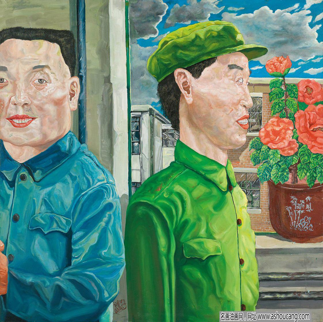 刘炜油画作品《革命家庭》赏析及拍卖价格