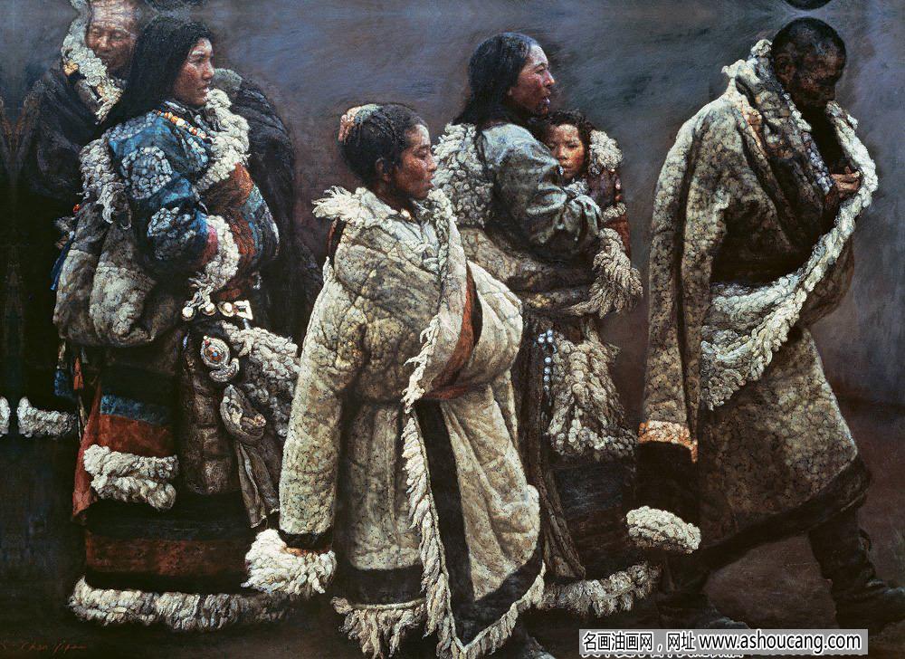 陈逸飞西藏题材油画作品《山地风》赏析及拍卖价