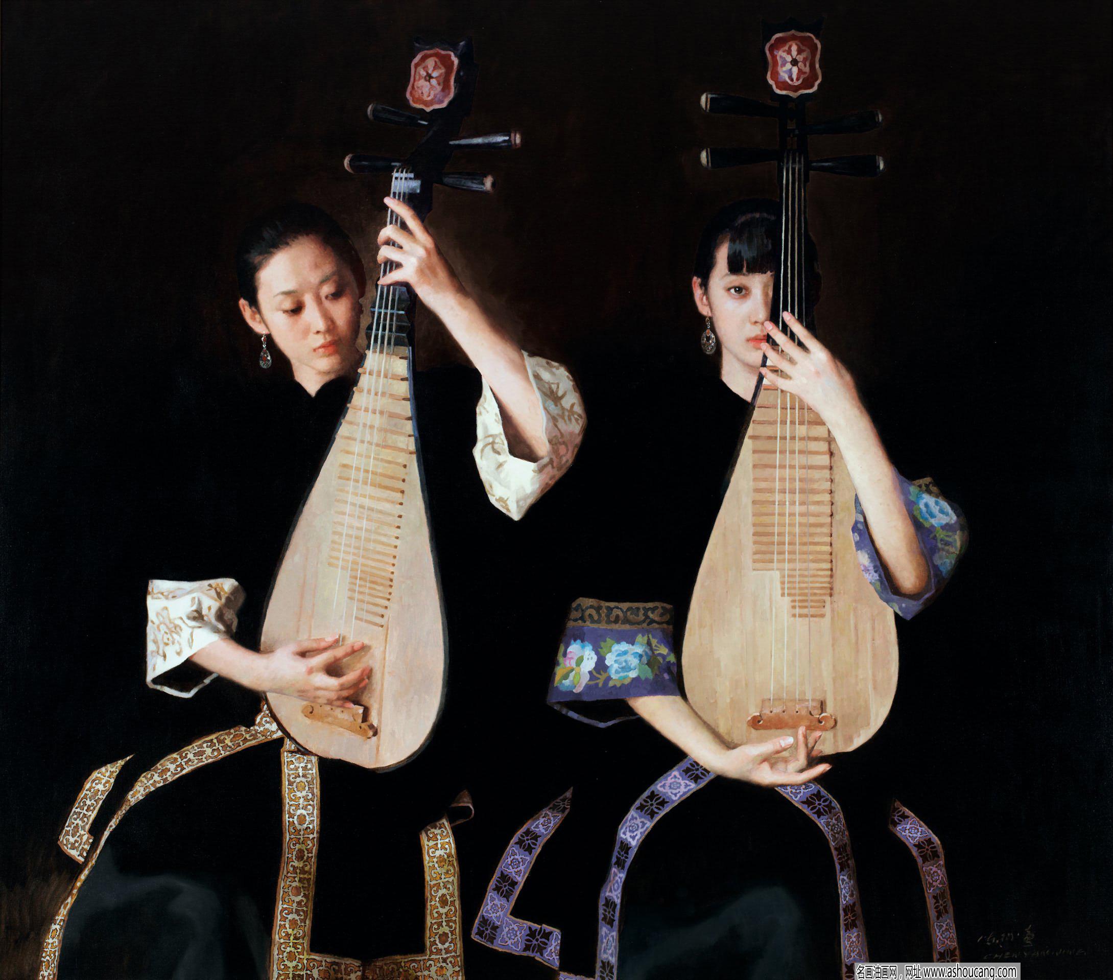 陈衍宁古典人物油画《相知》赏析