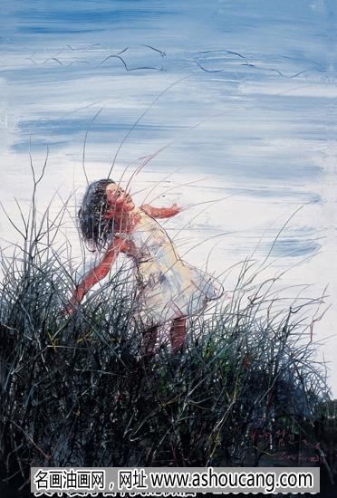 曾梵志作品 油画《天空》欣赏及拍卖成交价