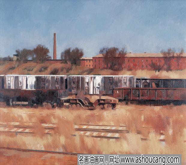 李延洲油画风景作品《正午》欣赏