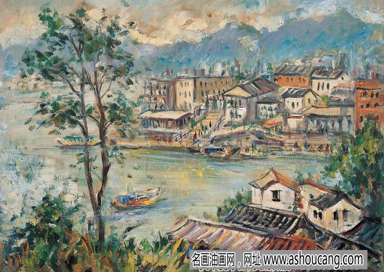 林达川风景油画作品欣赏及拍卖成交价