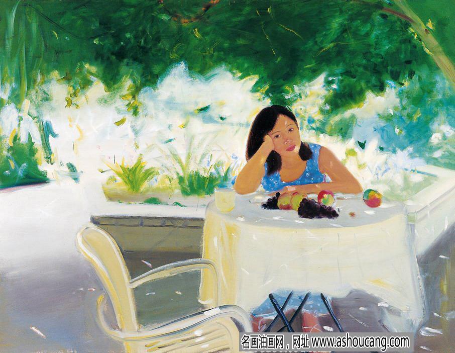 章剑风景油画作品《闲暇时光》欣赏