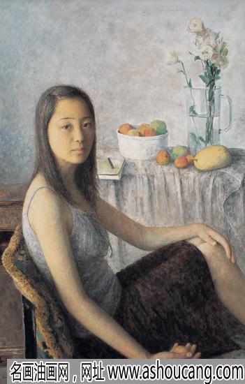 朱春林油画人物作品《八月》欣赏