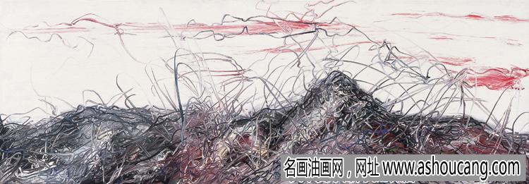 曾梵志风景抽象油画欣赏及拍卖成交价