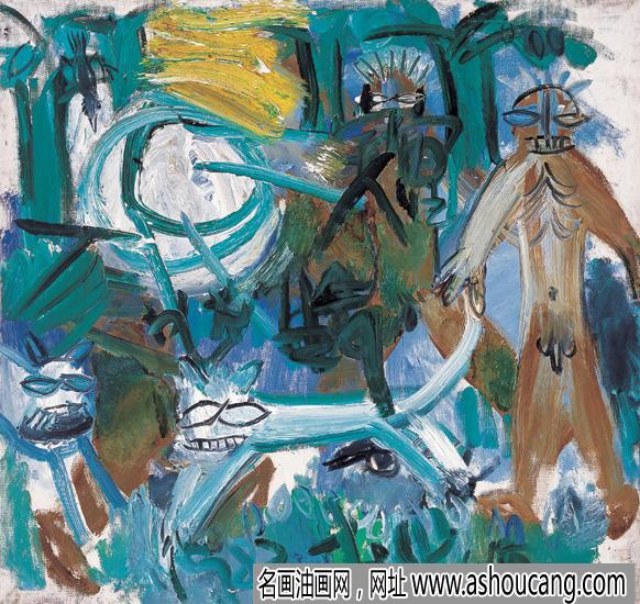 李山抽象油画《故乡》欣赏及拍卖成交价