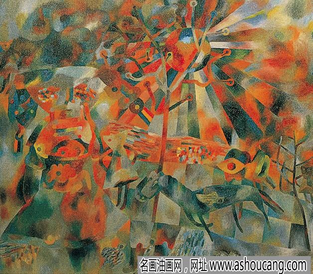 曹力抽象油画系列《4号》欣赏