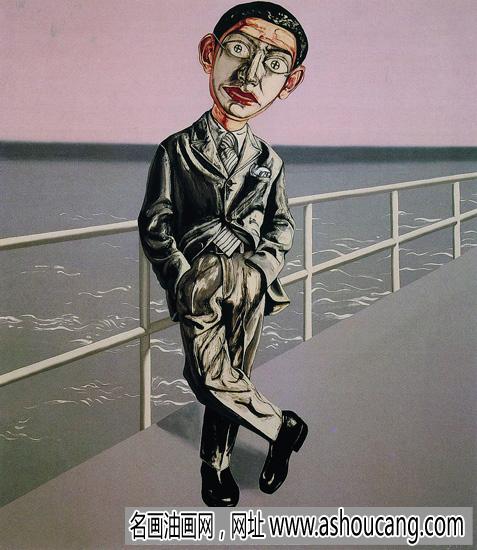 曾凡志抽象油画《面具97》欣赏