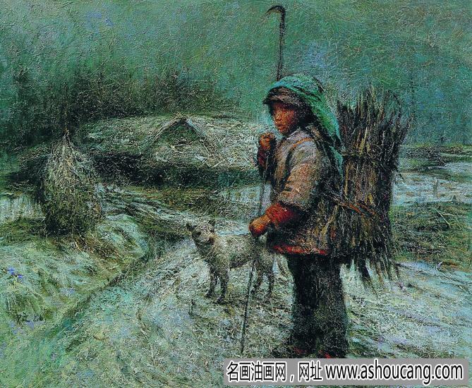 罗中立人物油画《巴山初雪》欣赏及拍卖成交价