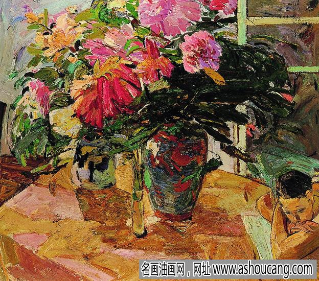 闫平油画花卉《温暖的季风》欣赏