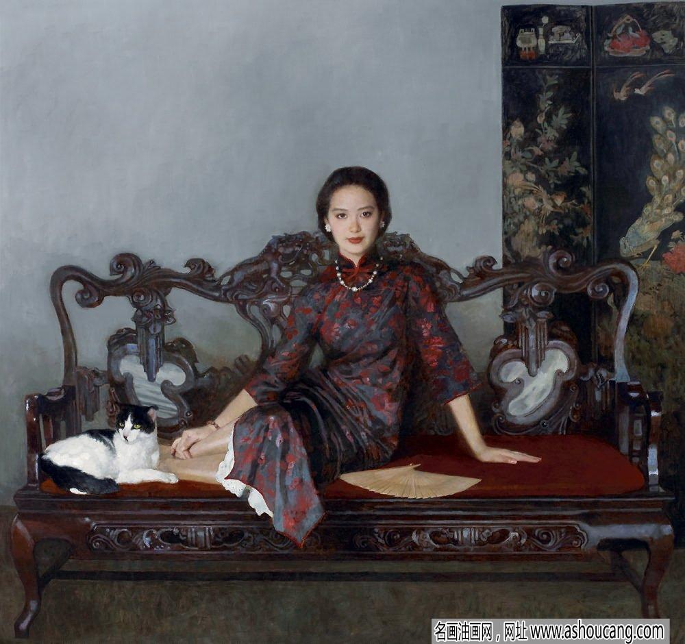 陈衍宁古典人物油画《日正午》欣赏及成交价