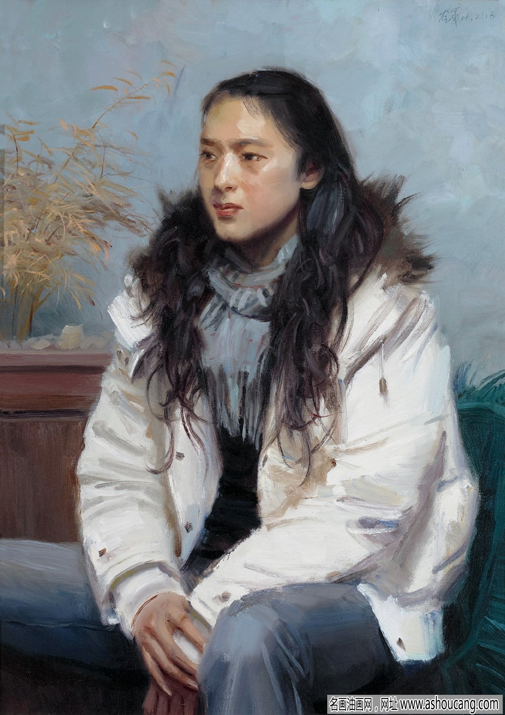 冷军人物油画《肖像》欣赏及拍卖成交价