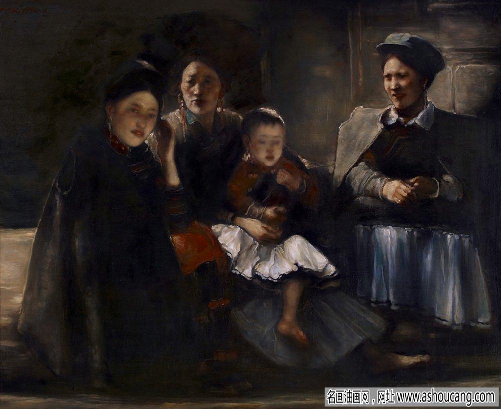 庞茂琨人物油画《一家子》欣赏
