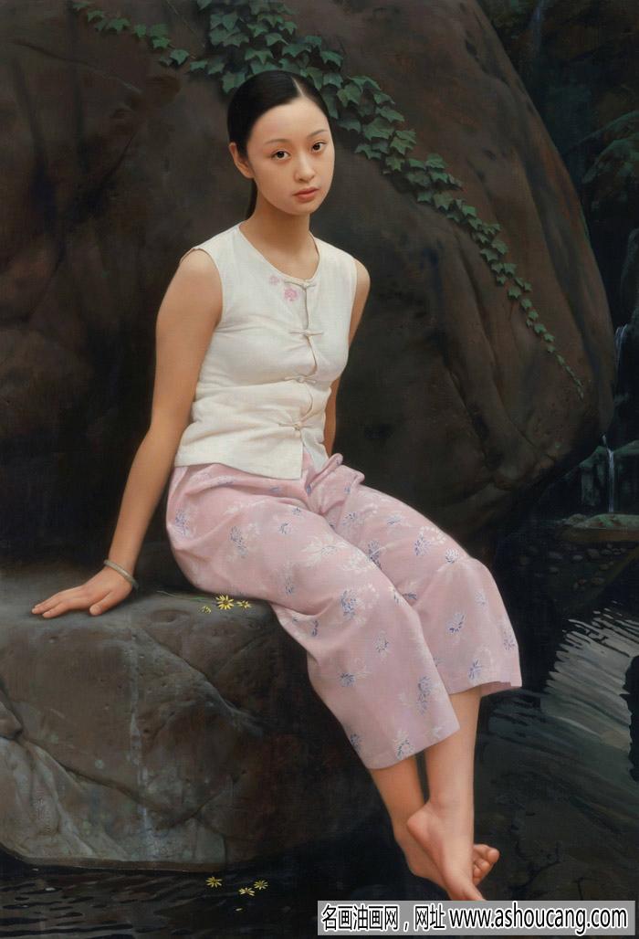 王沂东人物油画《小女孩》欣赏