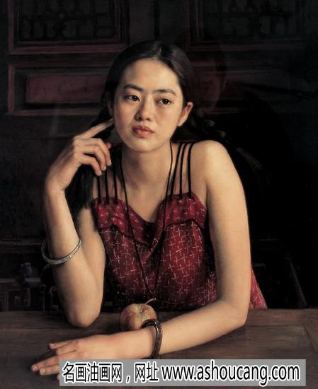 杨飞云油画人物作品《少女》欣赏