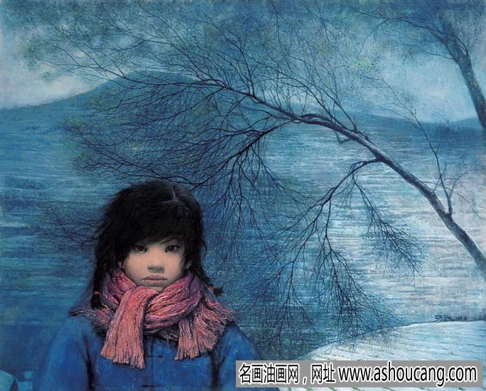 张凯油画人物《冬日女孩》拍卖成交价