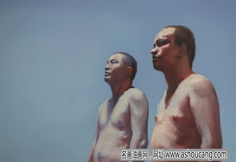 尹朝阳油画人物作品《青春已去》欣赏