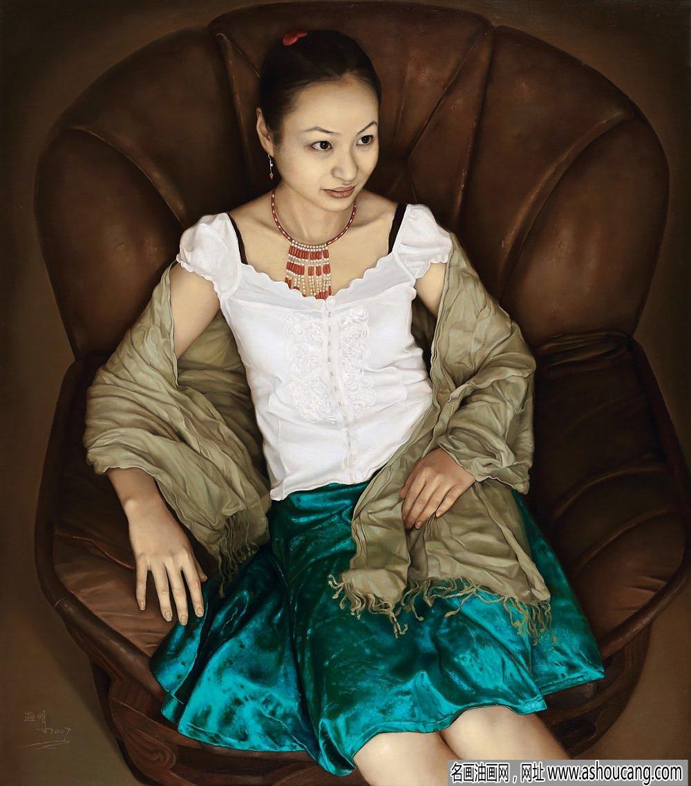 王海明油画人物《夏日午后》欣赏
