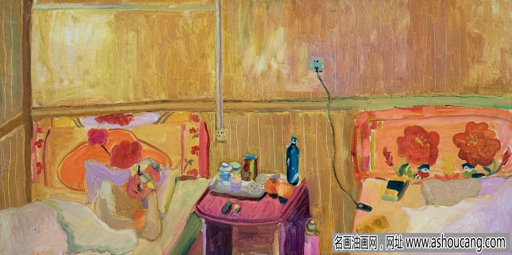 王菁油画作品《我的春天在哪里》欣赏