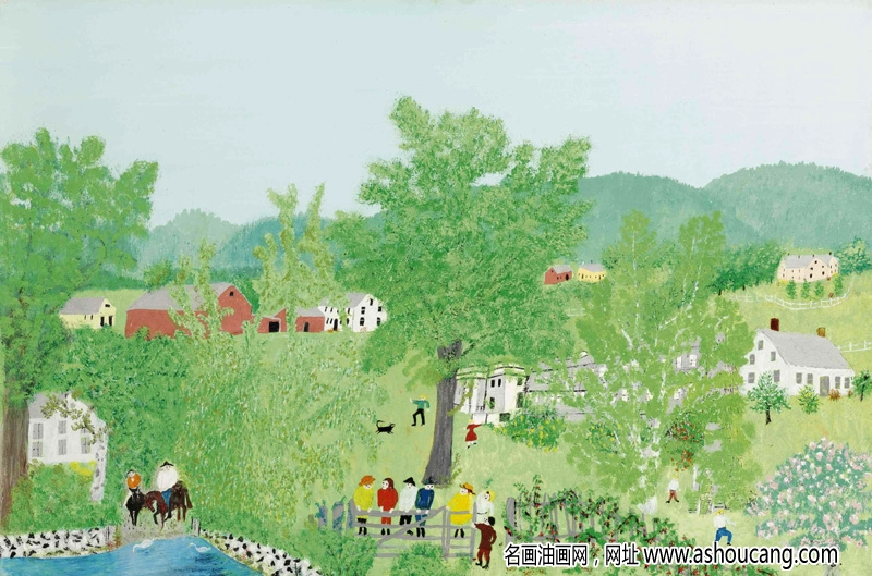 摩西奶奶_美国原始派画家作品欣赏