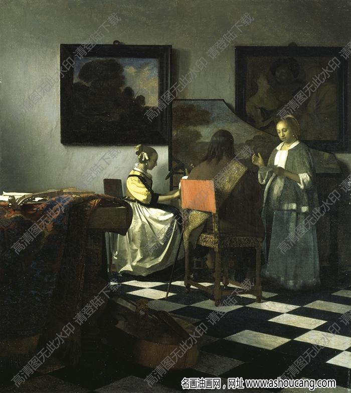 维米尔油画作品高清28下载