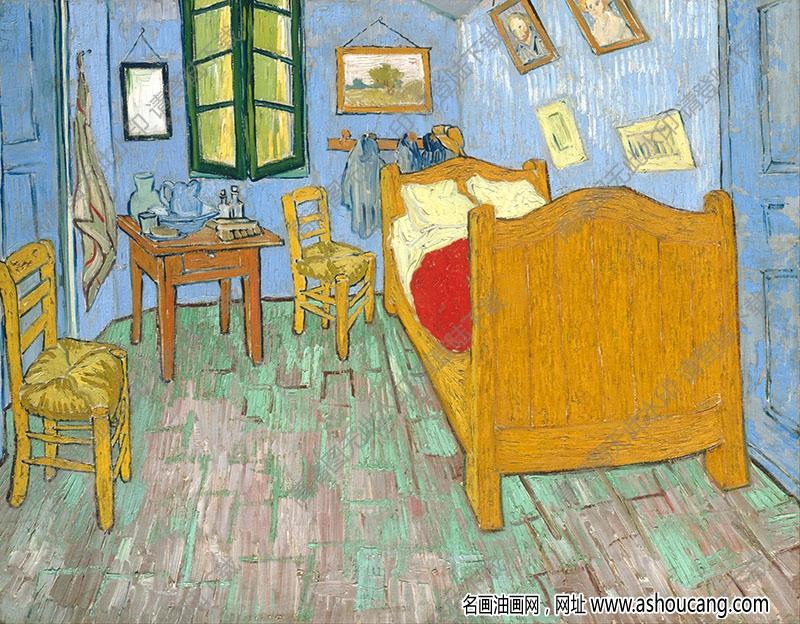 梵高 油画《卧室》高清大图141下载