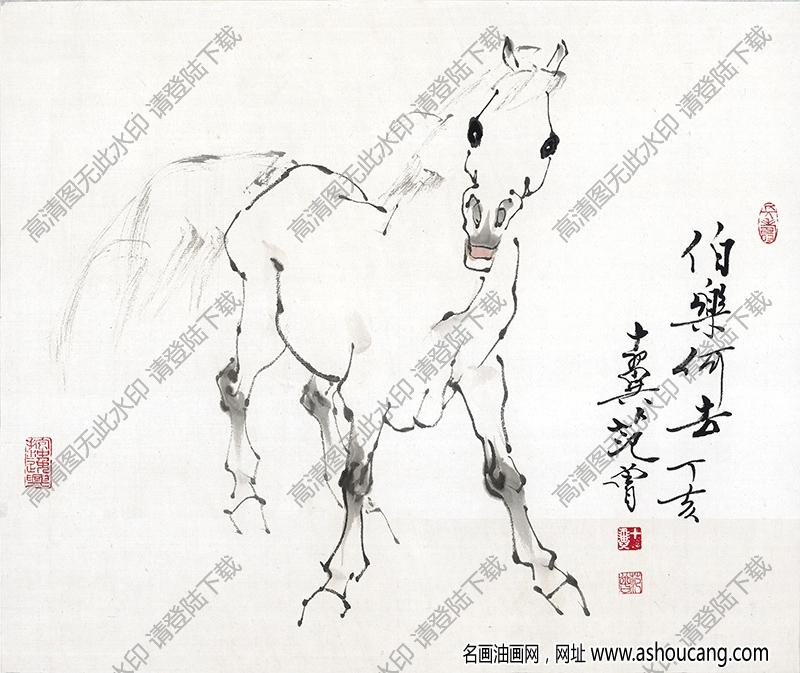 范曾 名画《马》高清大图18下载