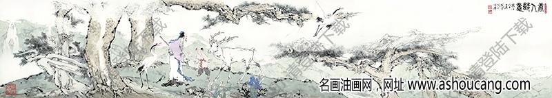 范曾 名画《唐人诗意》高清大图69下载