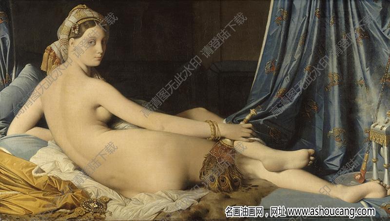 安格尔 油画《大宫女》高清大图40下载