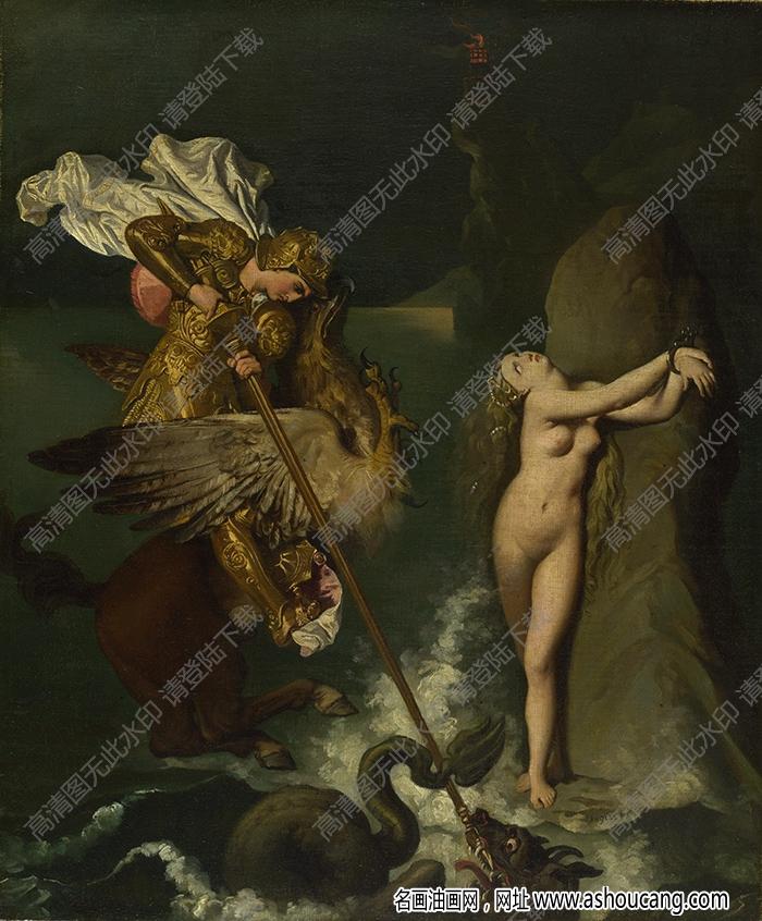 安格尔油画高清图片45下载