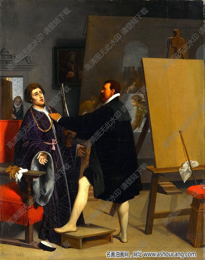 安格尔油画高清图片46下载