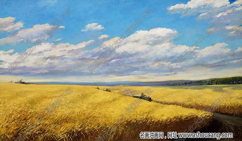吴作人 油画《金色的海洋》高清大图16下载