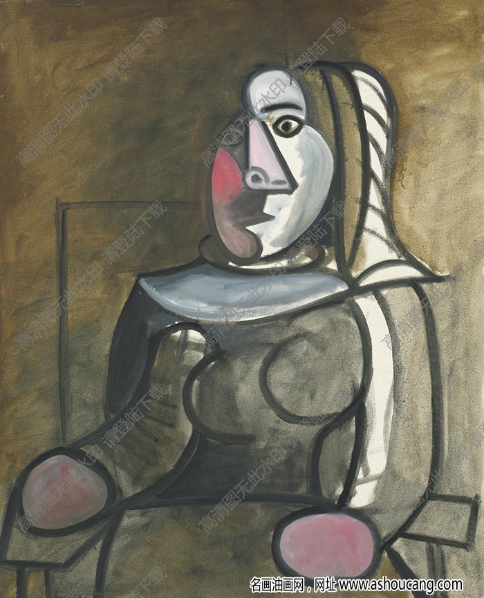 毕加索油画作品高清75下载