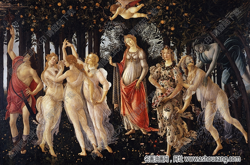 波提切利 名画《春》高清大图60下载