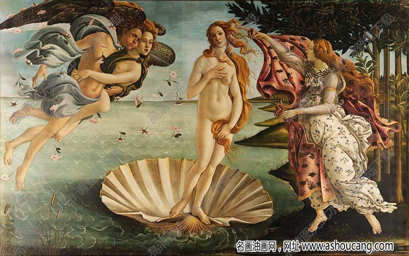 波提切利 名画《维纳斯的诞生》高清大图62下载