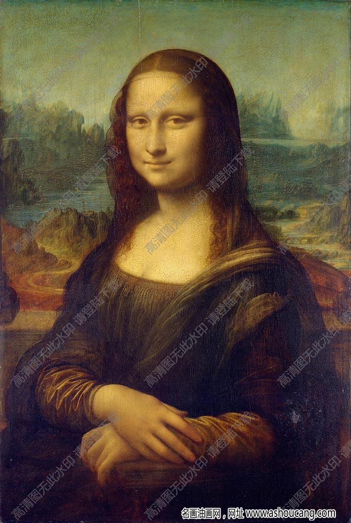达芬奇 名画《蒙娜丽莎》高清大图83下载