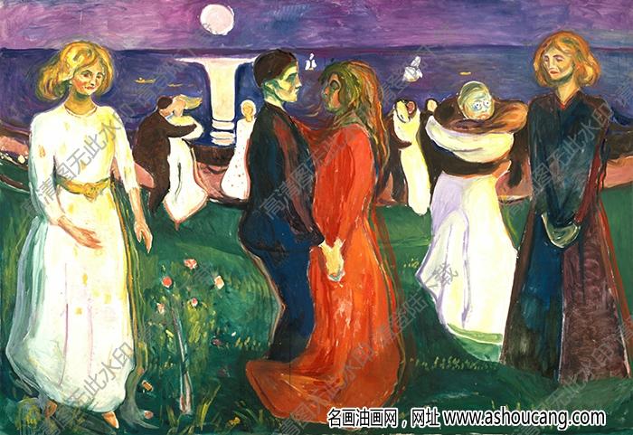蒙克 名画《生命之舞》高清大图27下载