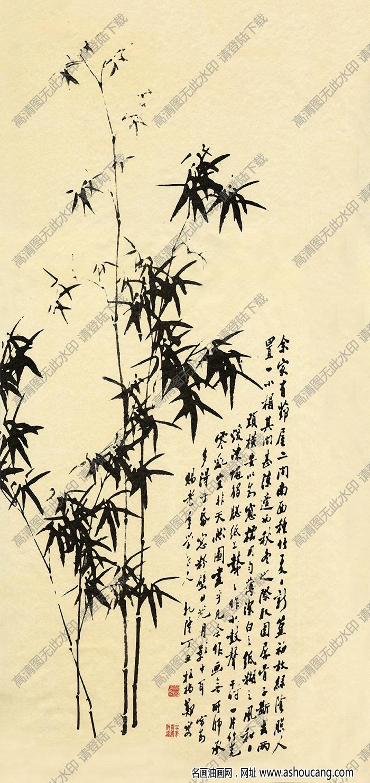 清 郑板桥《竹子》-1高清大图下载
