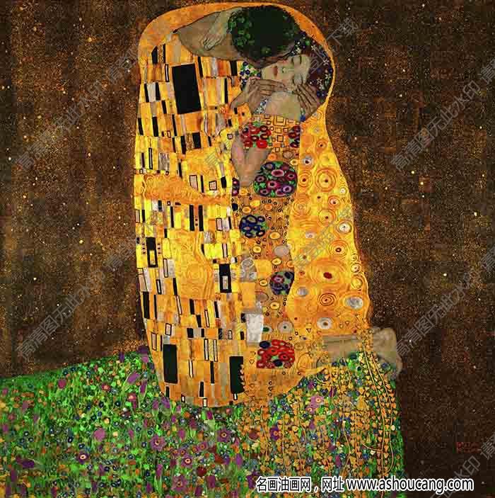 克里姆特 名画《吻》高清大图94下载