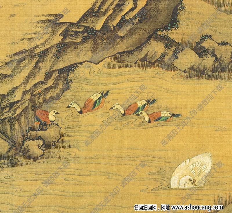 宋 佚名《百鸟朝凤》国画高清大图下载
