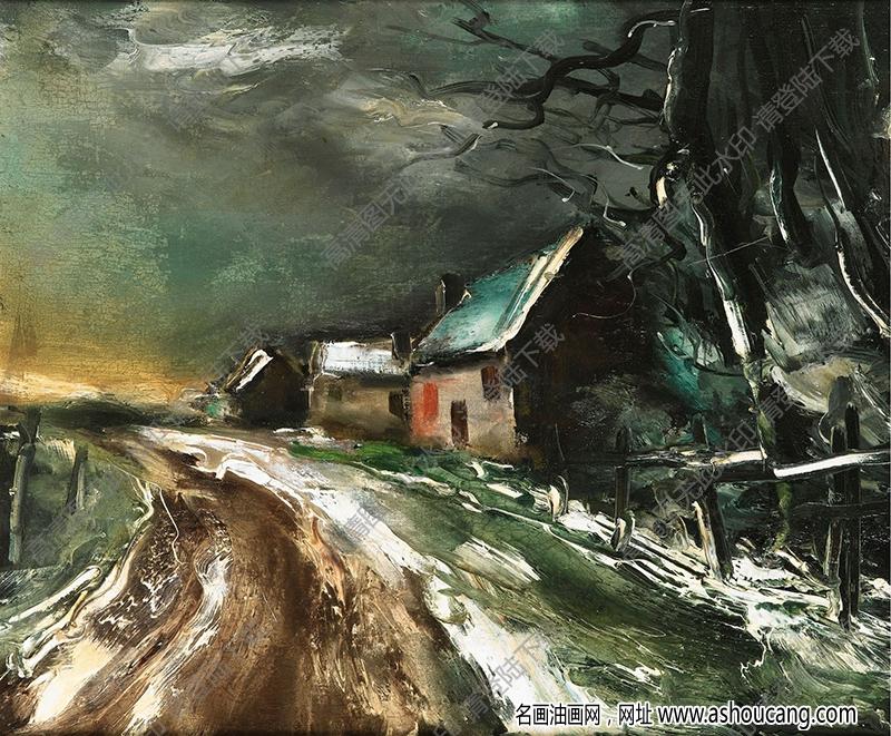 弗拉曼克油画作品高清9下载