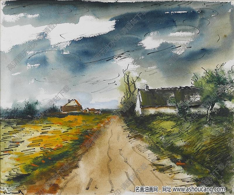 弗拉曼克油画作品高清24下载