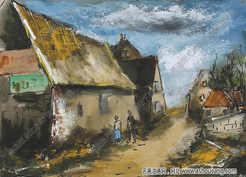 弗拉曼克油画作品高清28下载